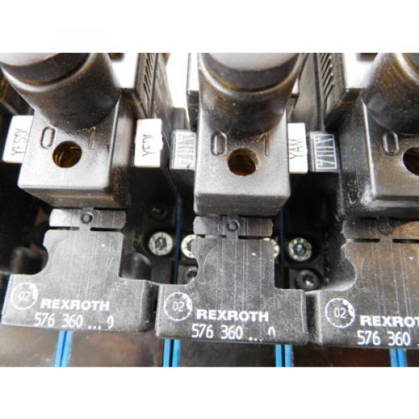 Rexroth Mecman 335 500 142 0 Valve terminal mit 8 x 576 360 0 Condition 1a #6 image