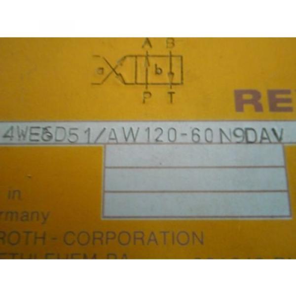 REXROTH Control Valve 4WE6D51/AW120-60N9DAV  / 4WE6D51 #3 image