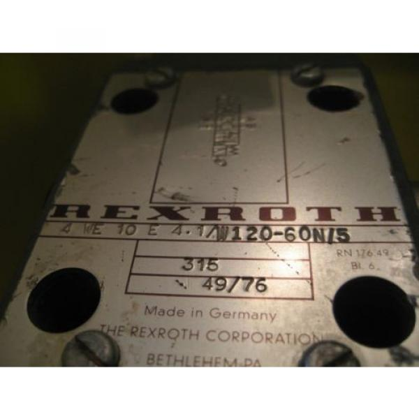 Rexroth Hydraulic Directional Control Valve Solenoid Hydro Norma # 4WE10E41 WL70 #3 image