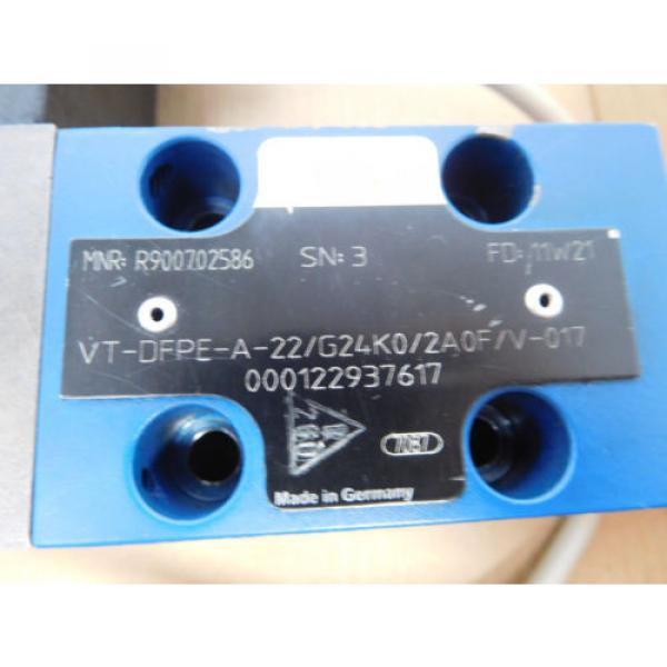 Rexroth VTDFPE-A-22/G24K0/2A0F/V-017, rexroth R900702586, Proportional valve #2 image