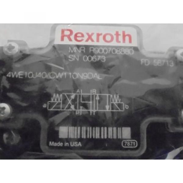 REXROTH, DIRECTIONAL CONTROL VALVE, R900708880, FD58713, 110/120VAC, 50/60HZ #2 image
