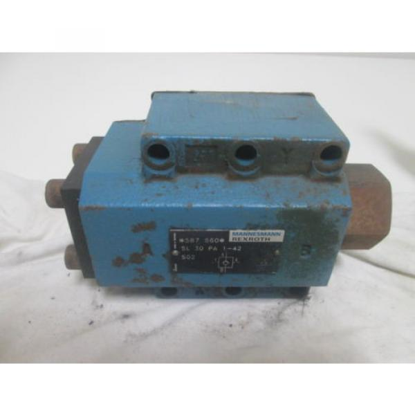 REXROTH 587560 SL30PA 1-42 HYDRAULIC VALVE AS PICTURED #1 image