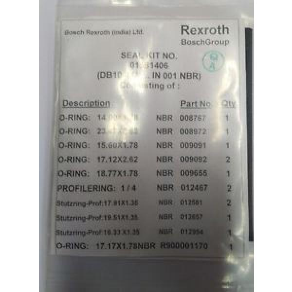 01581406 SEAL KIT  Rexroth Make for DBD20 Direct Operated Pressure Relief Valve #1 image