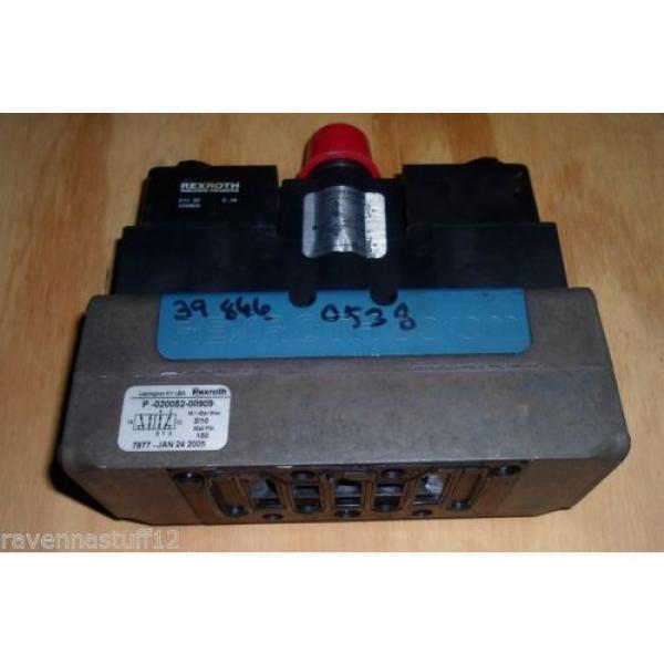 Rexroth P-020052-00909 24VDC Solenoid Valve origin no Box #1 image