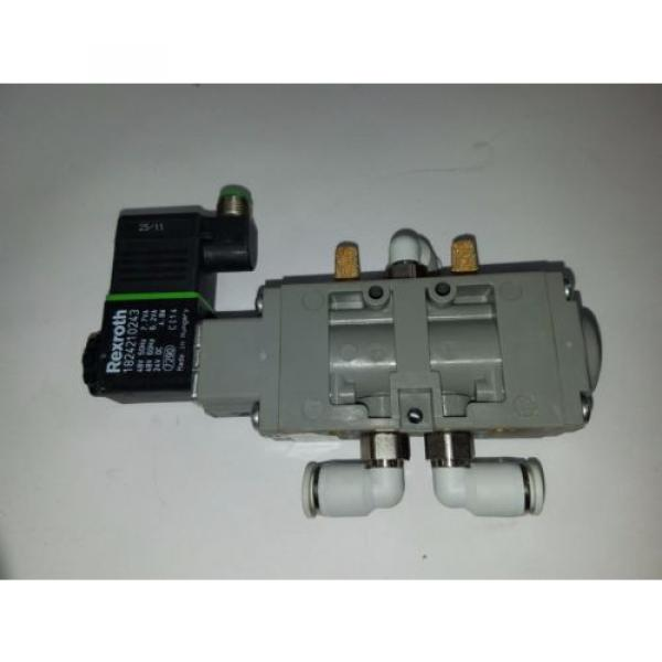 UNUSED REXROTH PNEUMATIC DIRECTIONAL VALVE WITH 24VDC COIL 9180 #2 image