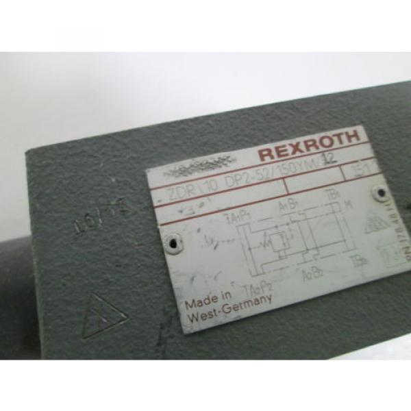 REXROTH HYDRUALIC VALVE ZDR10DP2-52/150YM/12 USED #2 image