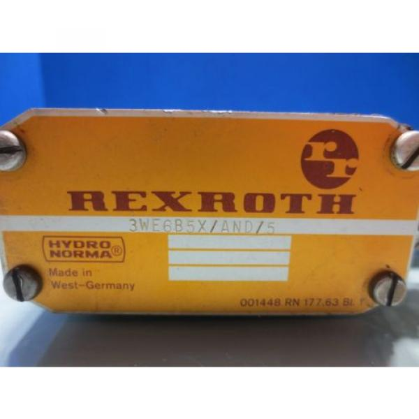 REXROTH SOLENOID VALVE 3WE6B5X/AND/5 #2 image