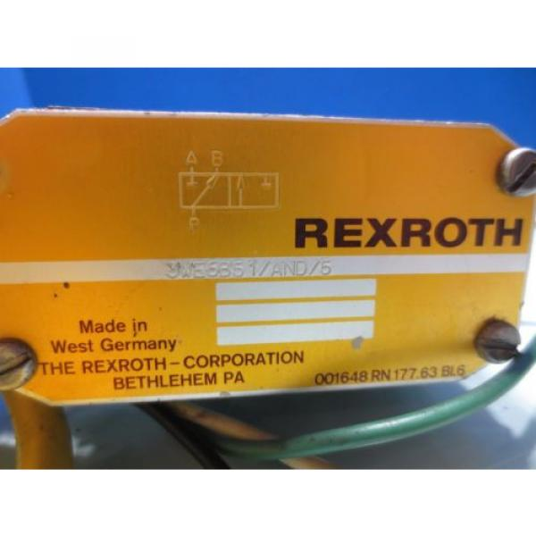 REXROTH SOLENOID VALVE 3WE6B51/AND/5 #2 image