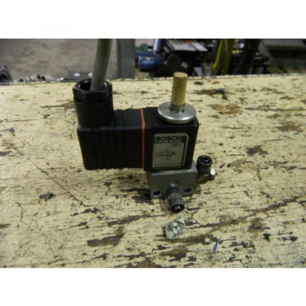 Bosch Rexroth Solenoid Valve, P/N 0820019014, W/ 1824210060 24VDC Coil, Used #1 image
