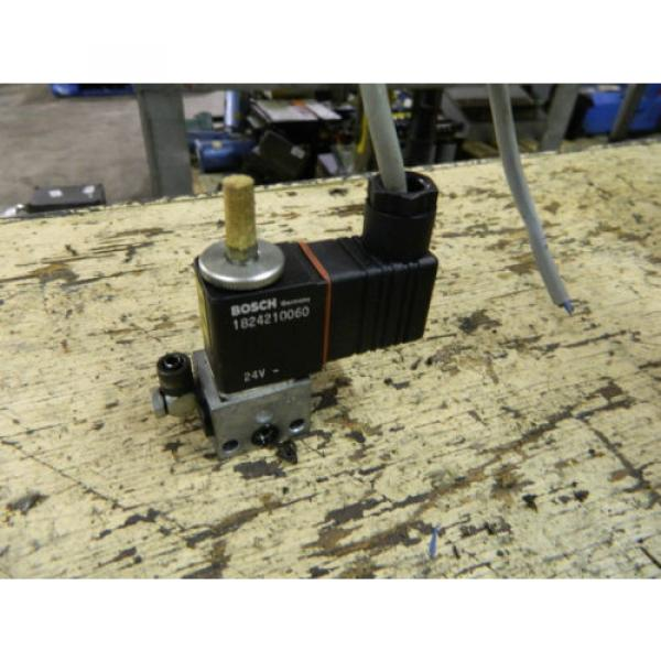 Bosch Rexroth Solenoid Valve, P/N 0820019014, W/ 1824210060 24VDC Coil, Used #2 image