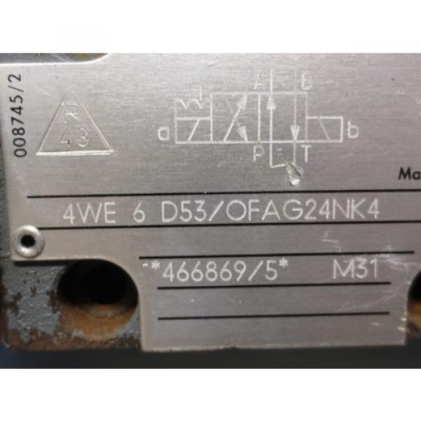 REXROTH  VALVE 4WE 6 D53/OFAG24NK4 4WE6D53/OFAG24NK4 4WE 6 D53/0FAG24NK4 #2 image