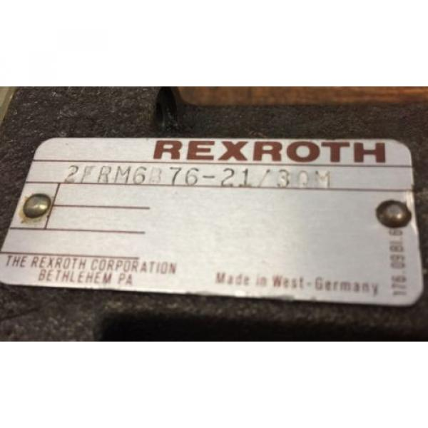 REXROTH 2FRM 6B76-21/30M FLOW CONTROL VALVE Germany #3 image