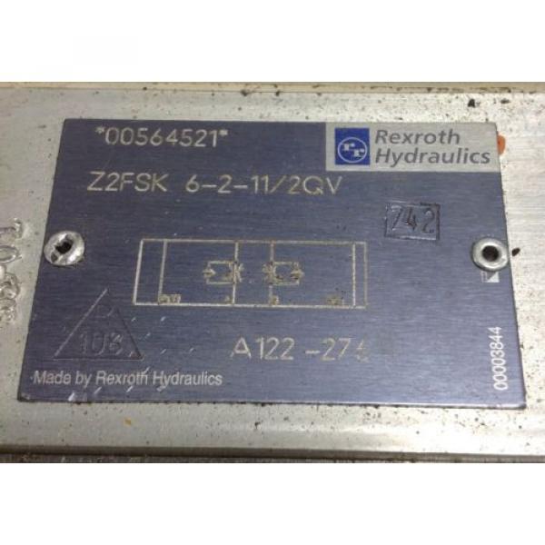 REXROTH HYDRAULIC CHECK VALVE A122-276 / Z2FSK 6-2-11/2QV 102665 #2 image