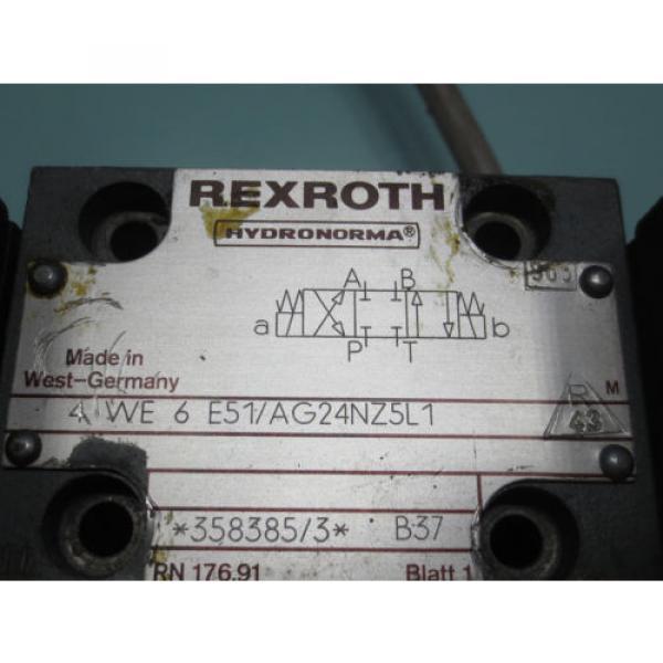 REXROTH HYDRONORMA  VALVE 4 WE6 E51/AG24NZ5L1 43 4WE6E51/AG24NZ5L143 #2 image