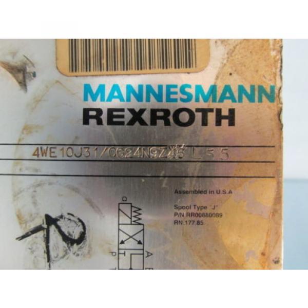 MANNESMANN REXROTH 4WE10J31/CG24N9Z4SL55 HYDRAULIC VALVE #2 image