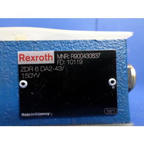 REXROTH ZDR6DA2-43/150YV PRESSURE REDUCING HYDRAULIC VALVE NNB #2 image