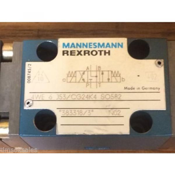 MANNESMANN REXROTH 4WE 6 J53/CG24K4 SO582 SOLENOID CONTROLLED VALVE #3 image