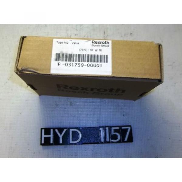 Origin Rexroth P-031759-00001 Type 740 Pneumatic Valve HYD1157 #1 image