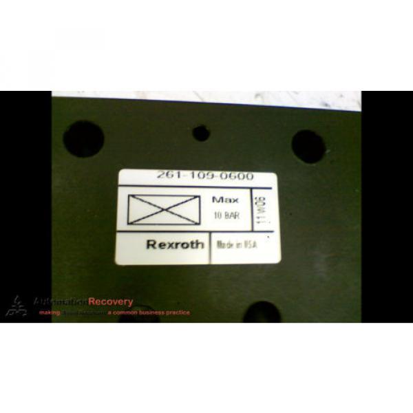 REXROTH 2611090600 VALVE BLANKING PLATE, Origin #169550 #2 image