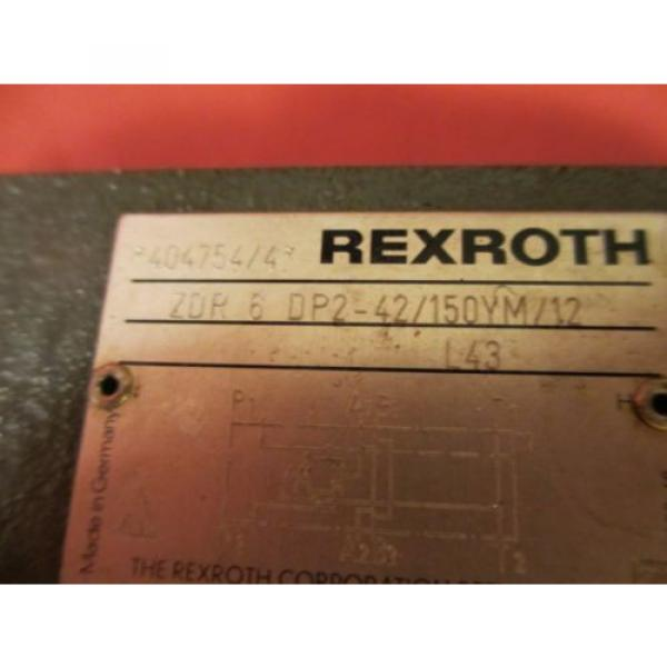 Rexroth ZDR 6 DP2-42/150YM/12 Pressure Relief Valve, ZDR6DP242150YM/12 #3 image