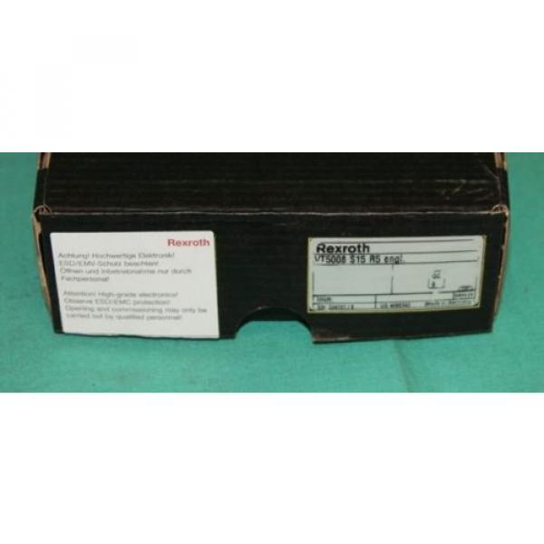 Rexroth, VT5008,  VT-5008, Hydraulic Valve Bosch Proportional Amplifier Servo Ca #1 image