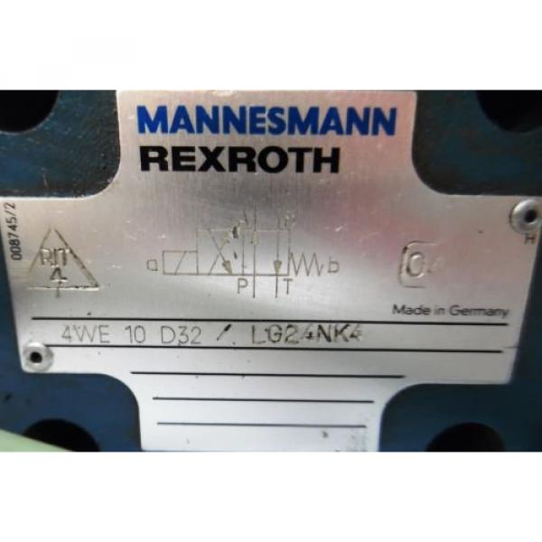 REXROTH, DIRECTIONAL VALVE, 4WE10D32, HYDRONORMA, SOLENOID VALVE, GL62-4-A 366 #2 image