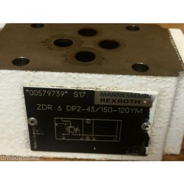 Mannesmann Rexroth ZDR 6 DP2-43/150-120YM Direct Actuated Pressure Reducer Valve #4 image