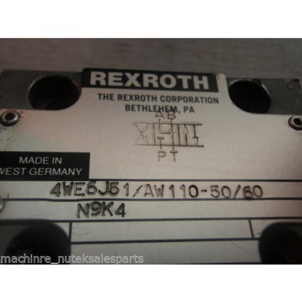 Rexroth Solenoid Operated Valve 4WE6J51/AW110-50/60 N9K4_4WE6J51AW11050/60N9K #3 image
