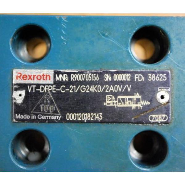 Rexroth PN:R900705156 VT-DFPE-C-21/G24K0/2A0V/V Proportional Valve #2 image