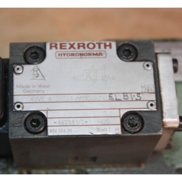 Rexroth HYDRONORMA 4 WH 22 E60UET 4WE 6 D52AW110-50NZ5LB15 Hydraulic Valve #3 image