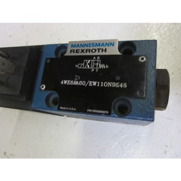 REXROTH 4WE6D60/EW110N9K4 DIRECTIONAL CONTROL VALVE AS PICTURED USED #4 image