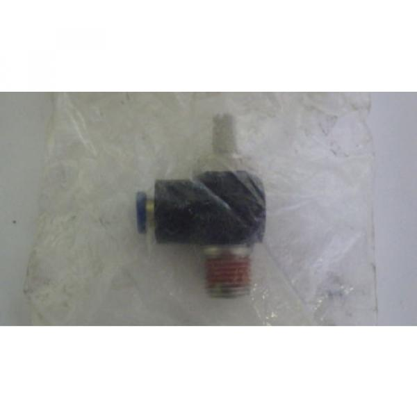 REXROTH  R432027194  FLOW CONTROL RIGHT ANGLE 1/4#034; NPT 1/4#034; OD  TUBE  Origin IN BAG #2 image