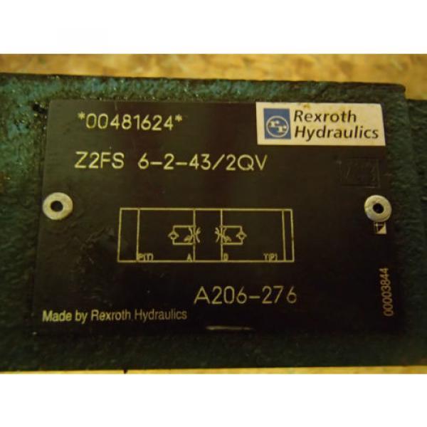 Rexroth Check  Valve Z2FS 6-2-43/2QV _ Z2FS62432QV _ A206-276_ A206276_ A2O6-276 #3 image