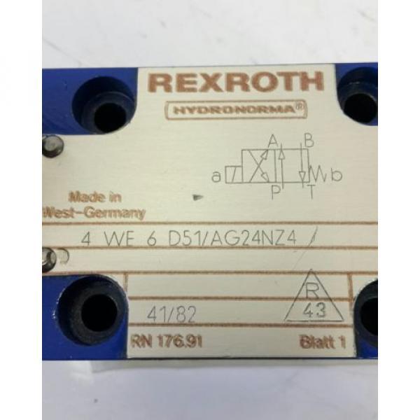 Rexroth Hydraulikventil 4WE6D51/AG24NZ4 solenoid valve 703273 #2 image