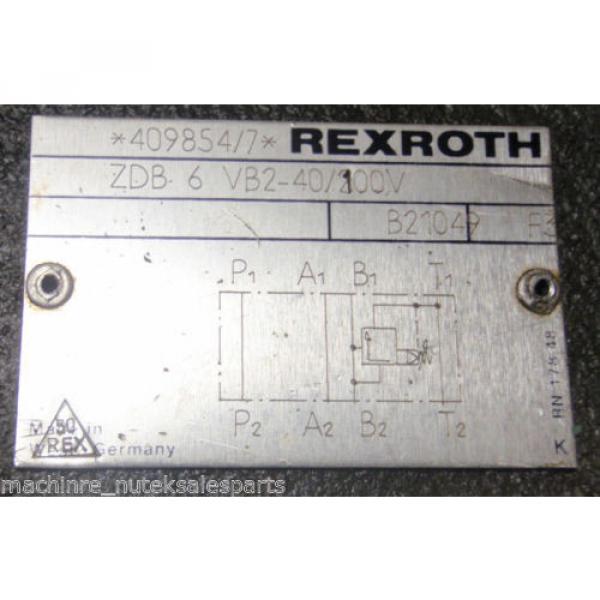 Rexroth Valve ZDB 6 VB2-40/100V ZDB6VB240/100  2DB6VB2-40 #3 image