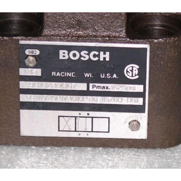Bosch 9810235067 Hydraulic Directional Valve 081WV25P1V3010PTKL Rexroth #3 image