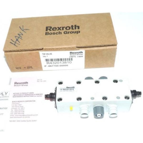 NIB REXROTH BOSCH R432013810 740 VALVE 150 MAX PSI #2 image