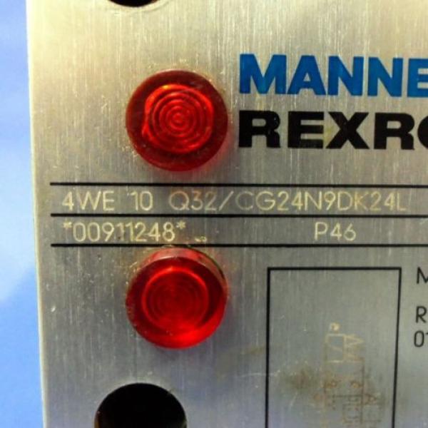 MANESMANN REXROTH 24V 146A DIRECTIONAL CONTROL VALVE 4WE-10Q32/CG24N9DK24L #2 image