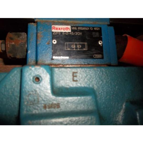 REXROTH 4WEH22E74/6EW11ON-ETZ45  DIRECTIONAL VALVE GOOD USED MISSING LABEL LL2 #3 image