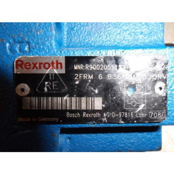REXROTH 2FRM-6 B36-33/320RV  2 WAY FLOW VALVE,  NO KEY LOT OF 2 USED #2 image
