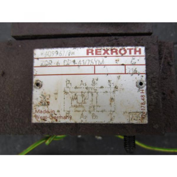 REXROTH ZDR-6 DP1-41/75YM REGULATOR VALVE ZDR6DP14175YM  INDEX V200 CNC #3 image