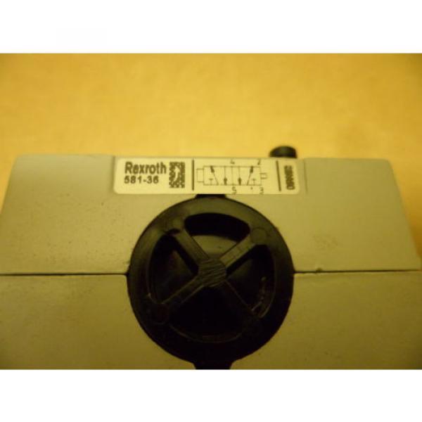REXROTH BOSCH 581-36 PNEUMATIC VALVE BLOCK NOS #3 image
