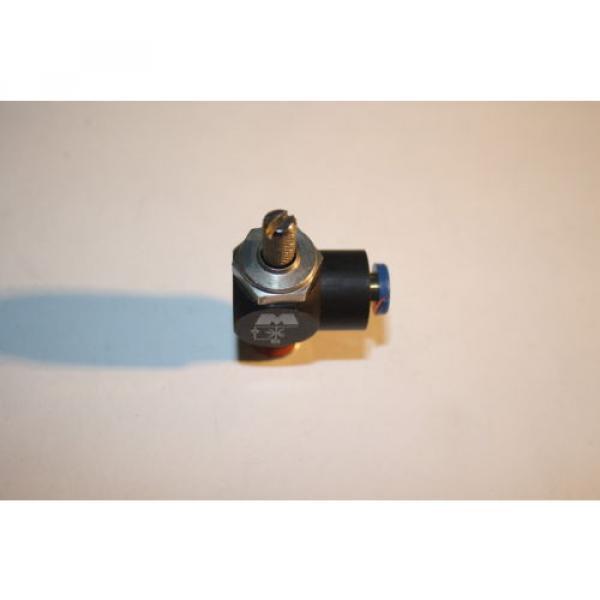 REXROTH  R432027194  FLOW CONTROL RIGHT ANGLE 1/4#034; NPT 1/4#034; OD  TUBE  Origin NO BAG #2 image