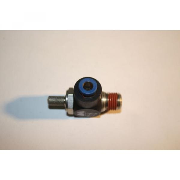 REXROTH  R432027194  FLOW CONTROL RIGHT ANGLE 1/4#034; NPT 1/4#034; OD  TUBE  Origin NO BAG #3 image