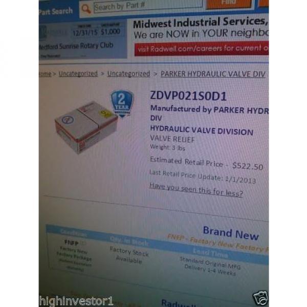 DENISON FLOW CONTROL VALVE # ZDV-P-02-1-S0-D1-098-91034-0 #5 image