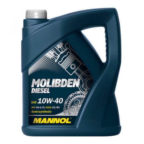 5L MANNOL Molibden Diesel 10W-40 ACEA E2/B3/A2 für stark belastete Dieselmotoren #1 image
