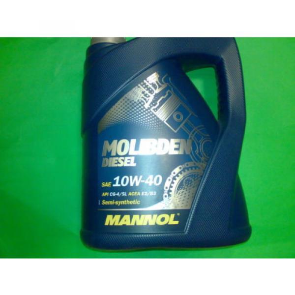 5L MANNOL Molibden Diesel 10W-40 API CG-4/CF-4/SJ Motoröl Öl 10W40 ACEA E2/B3/A2 #2 image