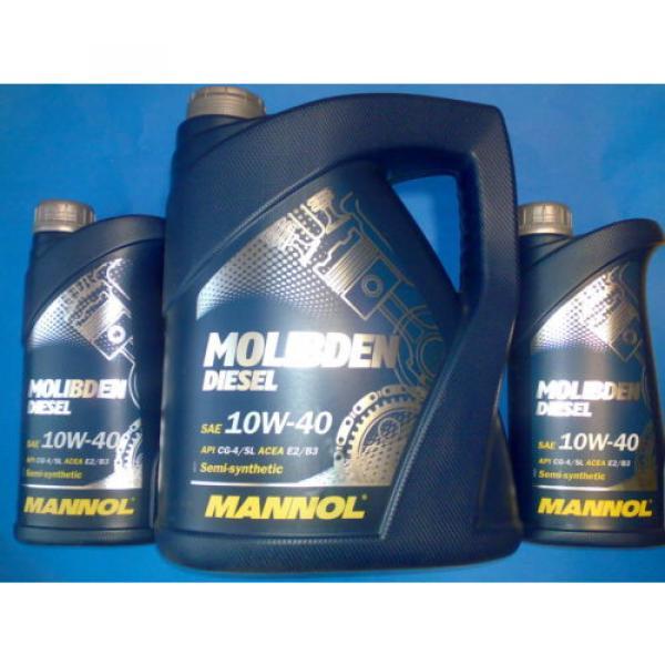 7L MANNOL Molibden Diesel 10W-40 API CG-4/CF-4/SJ Motoröl Öl 10W40 ACEA E2/B3/A2 #1 image