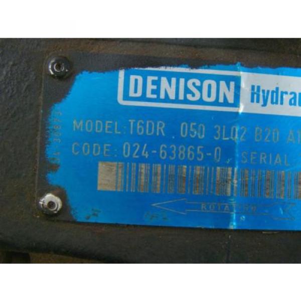 DENISON HYDRAULIC PUMP  1 1/2#034; SHAFT MODEL T6DR 050 3L02 B20 A1 #3 image