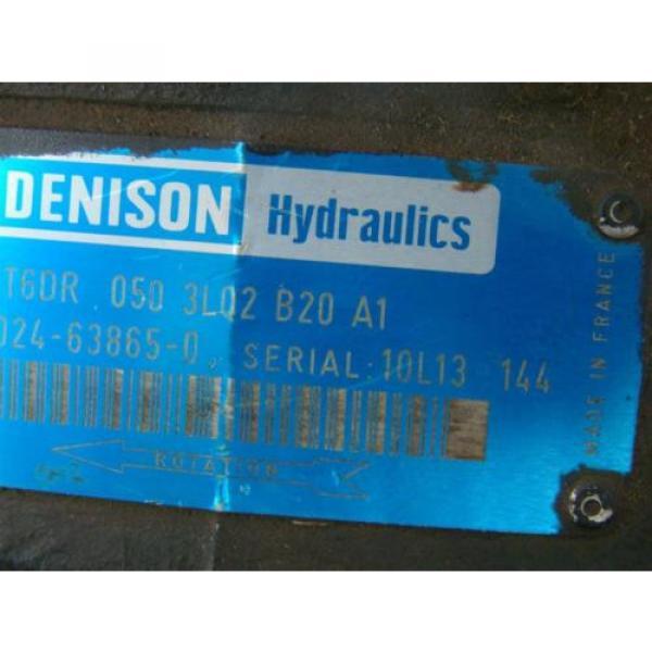 DENISON HYDRAULIC PUMP  1 1/2#034; SHAFT MODEL T6DR 050 3L02 B20 A1 #4 image
